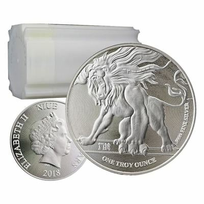 2018 Roaring Lion 1 oz Silver Coin | Sealed Roll of 20 Direct From Mint