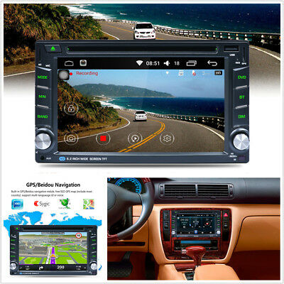 "6.2"" HD 2DIN Touch Dash Car MP5 CD/DVD Player GPS Nav Radio Stereo Bluetooth+Map"