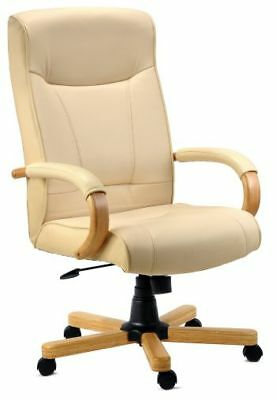 aspera 10 executive office nappa leather brown. Knightsbridge High Back Cream Leather Executive Office Swivel Computer PC Chair Aspera 10 Nappa Brown