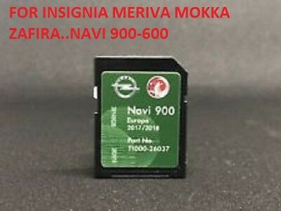 Opel Navi 900 / 600 Map FULL Europe new 2017 2018 SD Card Vauxhall Chevrolet TOP