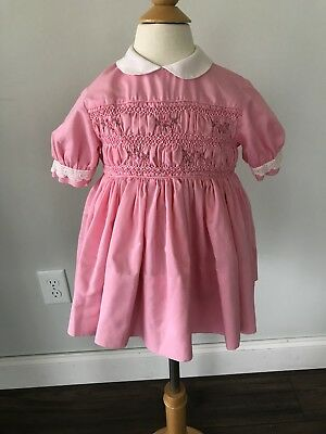 Vintage Polly Flinders Dress Pink 2T