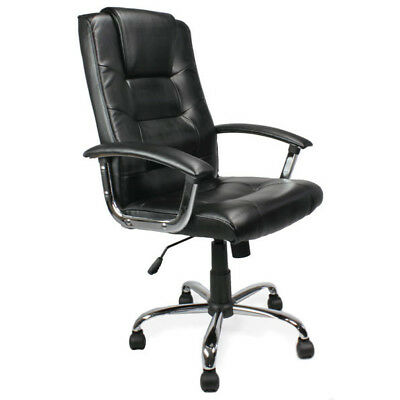 RS Pro Oslo leather faced business office Executive Computer Chair black