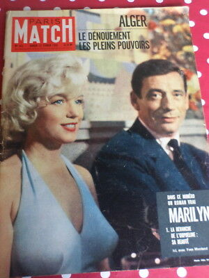 Paris Match 1960 Marilyn Monroe  Le Roman Vrai Photos from 4 years of age.& BB