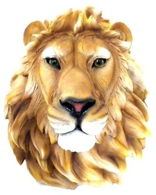 Beautiful Collectible Life Size Lion Head Wall Plaque