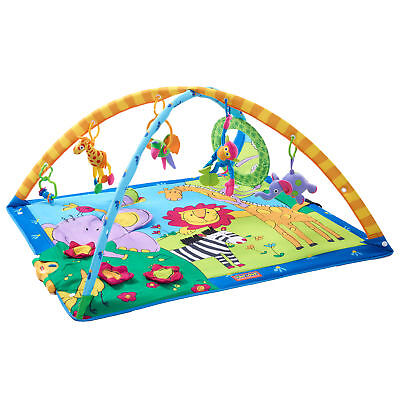 Tiny Love Gymini Super Deluxe Gym Lights and Music Soft Crawling Floor Play Mat