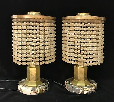 Pair Of Stunning Vintage French Art Deco Lamps In The Style Of Ruhlmann
