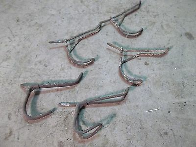 5 different Old Twisted Wire  Coat Rack Wall Hanger Hooks Lot E