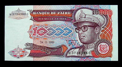 1989 ZAIRE Banknote 10000 zaires UNC HIGH QUALITY