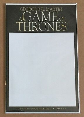 A Game Of Thrones #6 • Necra Blank Variant • George Rr Martin • Hbo #1