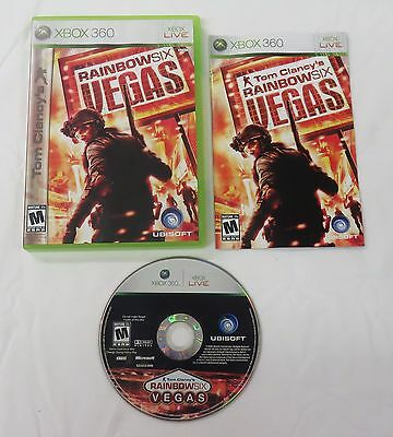 Tom Clancy's Rainbow Six: Vegas video game for the XBox 360 system - complete -
