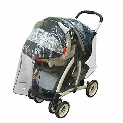 Protective Weather Shield Baby Rain Cover With Pocket For Travel System Stroller