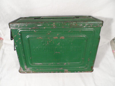 Vintage WWII Reeves Metal Ammunition Box/ Ammo Can - Cal. .30 M1 Military Army
