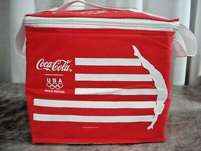 Coca Cola Soft Sided Insulated Cooler 2012 London Olympics USA Lunch Bag 6 Pack