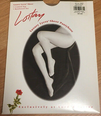 Vintage Lortay Pantyhose Control Top Pale Nude Plus Size Lord & Taylor  8300