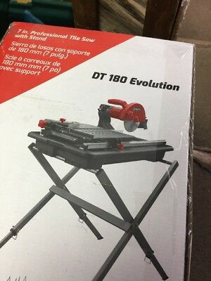 """RUBI TOOLS DT-180 EVOLUTION 7"""" Wet Tile Saw with Stand Ref.58974"""