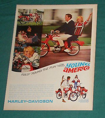 (7) Original Harley Davidson Motorcycle Print Ads - 1966-1969 - Advertising