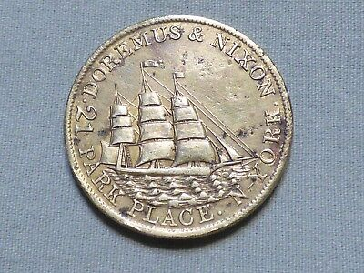 Rare 1850's Pre Civil War Token With Ship Image - Doremus & Nixon, NY Item 19