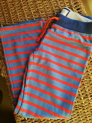 Mini Boden girl's stripy joggers blue/red age 10 years