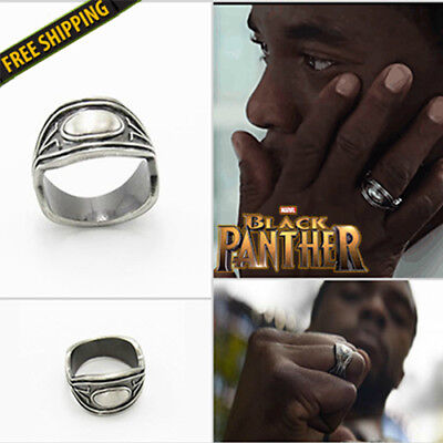 2018 New Black Panther King T Challa Ring Marvel Avengers Cosplay Jewelry