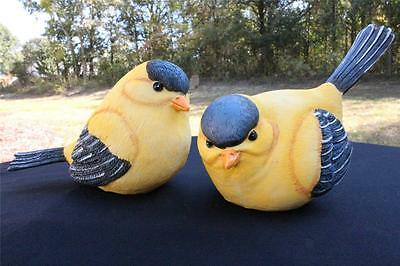 Bird Figurine Figurines New Lot of 2 Easter Spring Birds Yellow Gold Finch 2820B