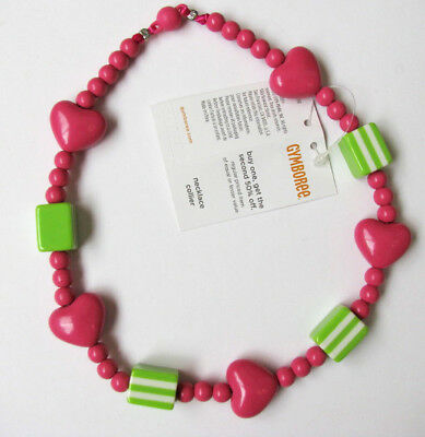 Nwt Gymboree Lovable Giraffe Heart Necklace girls 3 4 5 6 7 8 9 10 12 14 New