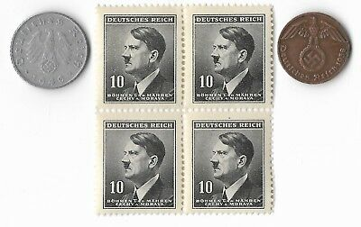 Rare Very Old WWII Vintage Nazi Germany SS Coin Hitler Stamp WW2 War Collection