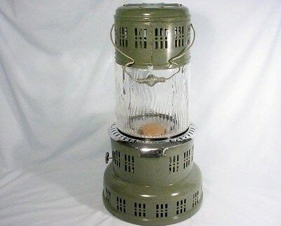 Perfection Kerosene Heater Glass Globe Model 735 Green Never Used