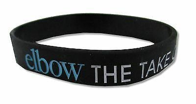 Elbow Take Off And Landing Black Silicone Wristband New Nwt Band Music Osfm