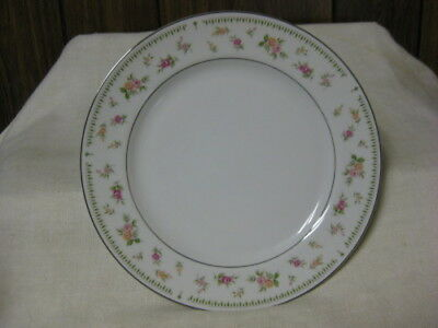 8 Abingdon by Japan Dinner Plates Pk Orange Roses Green Leaves 10 1/4""