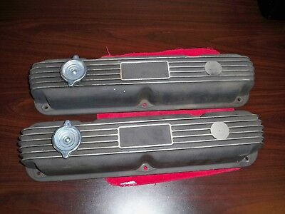 small block mopar black wrinkle aluminum valve covers 273 318 340 360 408 dodge