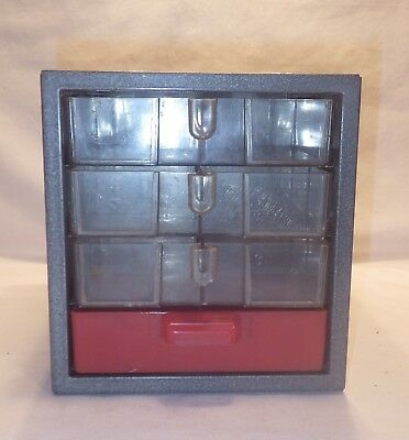 Vintage Craftsman Tools Small Parts Bins   Metal With 4 Plastic Drawers