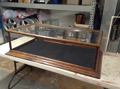 Vintage Country Store Countertop Counter Top Showcase Display Cabinet Oak