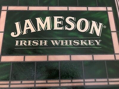 Jameson Irish Whiskey Faux Stained Glass Sign! Brand New! Unique! M