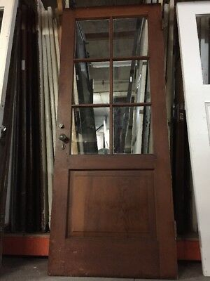 "French door Old Six Pane Door 79-1/2x32""Spanish Mediterranean Spanish Colonial"