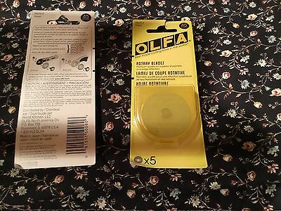OLFA Rotary Cutter BLADES, $15.50 -  45mm, pack of 5 blades, new-FREE SHIPPING!
