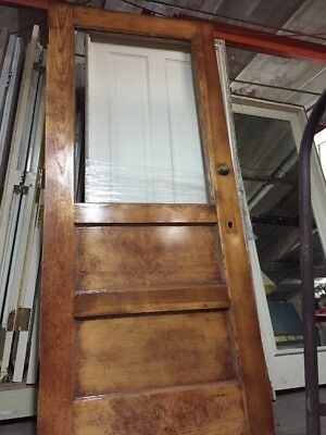 "Door Old Office Door 82"" X 35 1/2 antique vintage"