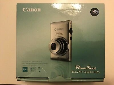 Canon PowerShot ELPH 300 HS 12.1MP Digital Camera - LIKE NEW - CASE INCLUDED