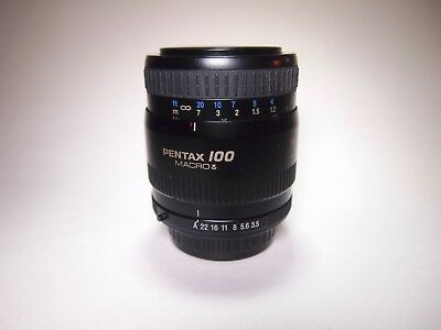 SMC Pentax FA 100mm f/3.5 Macro Lens-Excellent, Near-Mint Condition, w UV Filter