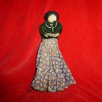 """Rare Ca 1900 Native American Navajo Indian Made 9 1/2"""" Beaded Doll / Complete"""