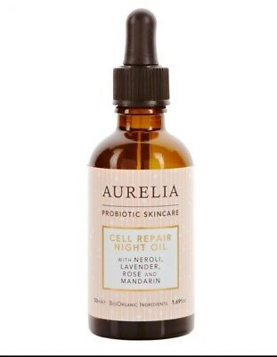 Aurelia Probiotic Skincare Cell Repair Night Oil 50ml New (RRP £62) Neuroli