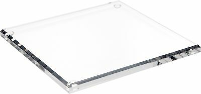 """Plymor Brand Clear Acrylic Square Beveled Display Base, .5"""" H x 8"""" W x 8"""" D New"""