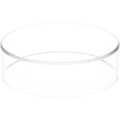 "Plymor Brand Clear Acrylic Round Cylinder Display Riser, 2"" H x 7"" D 2"" x... New"