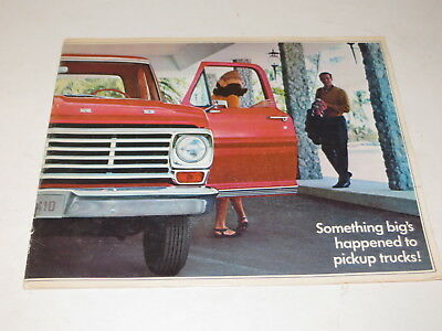 % Vintage 1967 Ford Pickup Trucks Automobile Brochure Tdm 8163  %