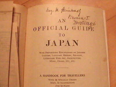 1933 An Official Guide To Japan  Japanese Government For Travelers 30 Maps Wwii