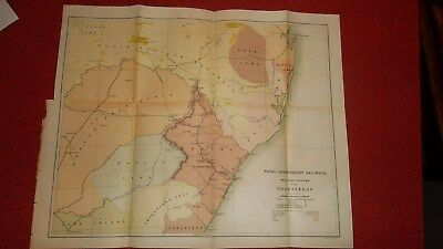 NATAL GOV. RAILWAYS to The Goldfields  -  1890s 18 X 14 In.  -  Hoen Lith Md.