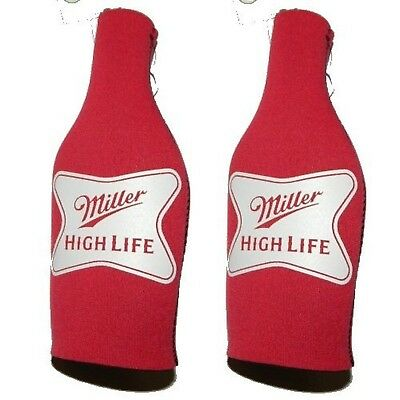 Beer Miller High Life - Neoprene Bottle Suits (2) | MHL Beer Bottle Insul... New