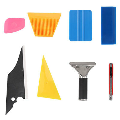 Durable 7 in 1 Car Window Film Tools Squeegee Scraper Set Kit Car Home Tint