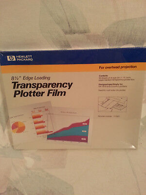 "HP 8.5""x11"" TRANSPARENCY PLOTTER FILM 8.5"" EDGE LOADING 50 SHEETS 17700T"