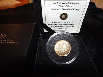 Canada 1914 Hand Selected $5 Dollar Gold Coin