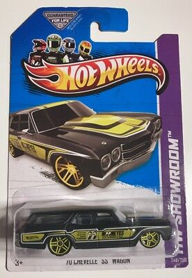 Hot Wheels 2013 MOONEYES '70 CHEVELLE SS WAGON * Super Fast Shipping * 10A